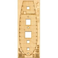168/3 Палубы из деревянного шпона к модели #168 Святитель Николай