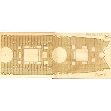 175/3 Палубы из деревянного шпона к модели #175 Измаил