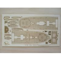 280/3 Палубы из деревянного шпона к модели #280 Владимир