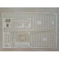 286/3 Палубы из деревянного шпона к модели #286 Santisima Trinidad
