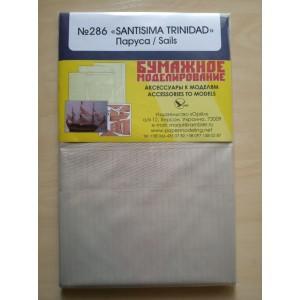 286/4 Комплект парусов из ткани к модели #286 Santisima Trinidad