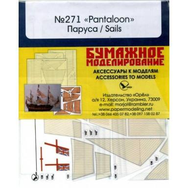 271/4 Комплект парусов из ткани к модели #271 Pantaloon