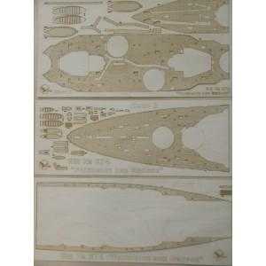 274/3 Палубы из деревянного шпона к модели #274  Friedrich der Grosse
