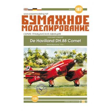 #187 Гоночный самолет De Havilland DH. 88 Comet