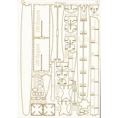 135/2 Лазерная резка к японскому миноносцу Кагеро (№135)